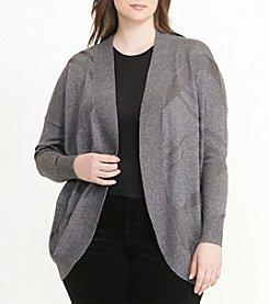 Lauren Ralph Lauren® Plus Size Geometric Open-Front Cardigan