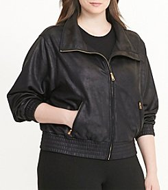 Lauren Ralph Lauren® Plus Size Coated Fleece Jacket