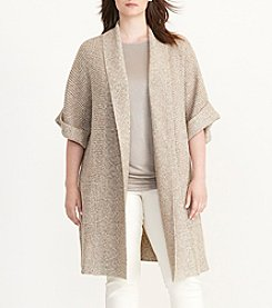 Lauren Ralph Lauren® Plus Size Cotton Shawl-Collar Cardigan