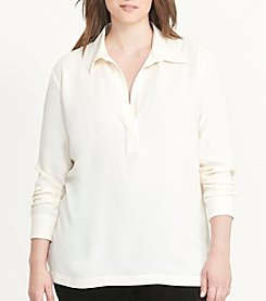 Lauren Ralph Lauren® Plus Size Collared Crepe Tunic