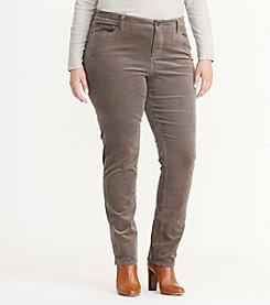 Lauren Ralph Lauren® Plus Size Premier Straight Corduroy Pants
