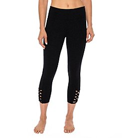 Betsey Johnson Performance® Cropped Lattice Cutout Leggings