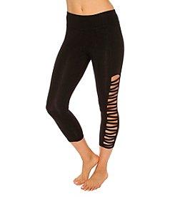 Betsey Johnson® Cropped Zig Zag Cutout Legging