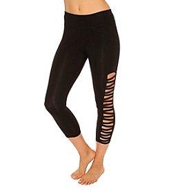 Betsey Johnson® Cropped Zig Zag Cutout Legging