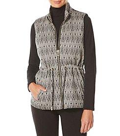 Rafaella® Deco Design Jacquard Puffer Vest