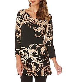 Rafaella® Engineered Elegant Print Tunic