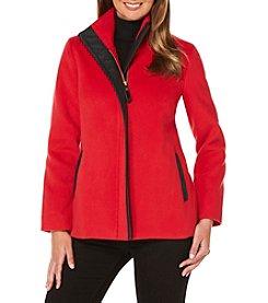 Rafaella® Solid Plush Mockneck Jacket