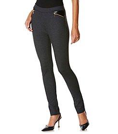 Rafaella® Grid Prind Jacquard Ponte Pants