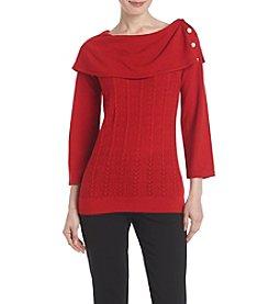 Studio Works® Pearl Button Sweater