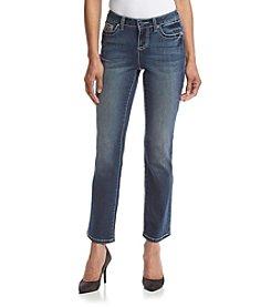 Earl Jean® Petites' Embellished Pocket Jeans