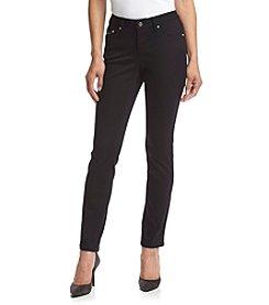 Earl Jean® Petites' Scroll Stitch Skinny Jeans