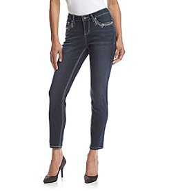 Earl Jean® Petites' Lace and Bling Skinny Jeans