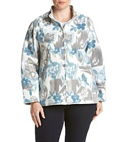 Alfred Dunner® Plus Size Northern Lights Floral Fleece Jacket