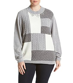 Alfred Dunner® Plus Size Northern Lights Colorblock Sweater