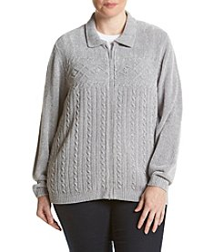 Alfred Dunner® Plus Size Northern Lights Zip Up Cardigan