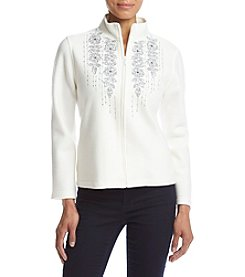 Alfred Dunner® Petites' Northern Lights Floral Trellis Jacket