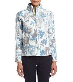 Alfred Dunner® Petites' Northern Lights Floral Patch Jacket