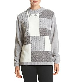 Alfred Dunner® Petites' Northern Lights Color Block Chenille Sweater