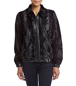 Alfred Dunner® Petites' Wrap It Up Faux Fur Jacket