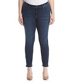 Earl Jean® Plus Size Zipper Ankle Skinny Jeans