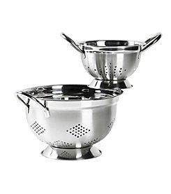 Basic Essentials 2-pc. Stainless Steel Footed Colander Set