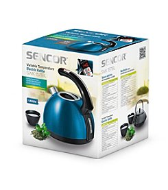 Sencor® 1.5-Liter Electric Kettle with Adjustable Temperature