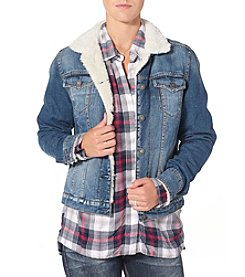 Silver Jeans Co. Sherpa Lined Denim Jacket