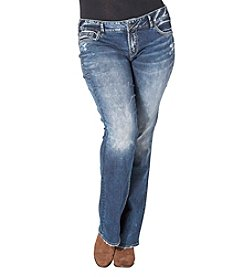 Silver Jeans Co. Plus Size Elyse Mid Bootcut Jeans