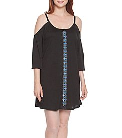 Dotti Jewel Tones Embellished Cold Shoulder Cover Up