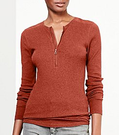Lauren Ralph Lauren® Cotton Half-Zip Shirt
