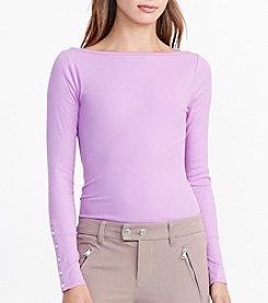 Lauren Ralph Lauren® Jersey Boatneck Top