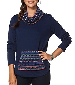 Chaps® Soft Cotton Interlocked Knit Sweater