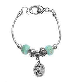 L&J Accessories Words Coin Charm Bracelet