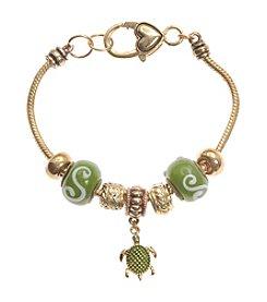 L&J Accessories Turtle Charm Bracelet