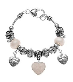 L&J Accessories Triple Heart Bracelet
