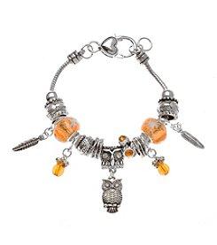 L&J Accessories Owl Charm Bracelet