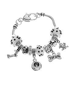 L&J Accessories Dog Charm Bracelet