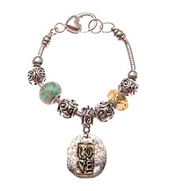 L&J Accessories Love Coin Charm Bracelet