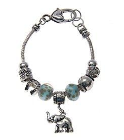 L&J Accessories Elephant Charm Bracelet
