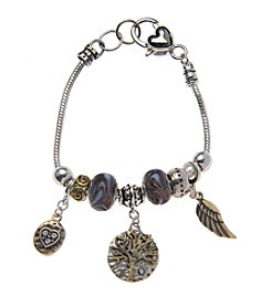 L&J Accessories Tree of Life Charm Bracelet