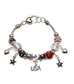 L&J Accessories Patriotic Charm Bracelet