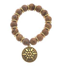 L&J Accessories Disc Charm Bracelet