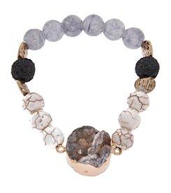 L&J Accessories Druzy Stone Bracelet