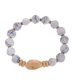 L&J Accessories Center Stone Bracelet