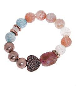 L&J Accessories Heart Stone Bracelet