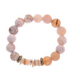 L&J Accessories Stone Disc Bracelet