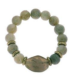 L&J Accessories Green Stone Bracelet
