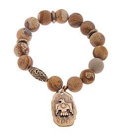 L&J Accessories Eagle Coin Charm Bracelet