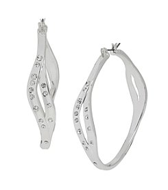 Robert Lee Morris Soho™ Pave Crystal Accent Hoop Earrings