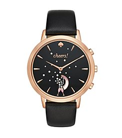 kate spade new york® Leather Strap Cheers Metro Grand Hybrid Smart Watch